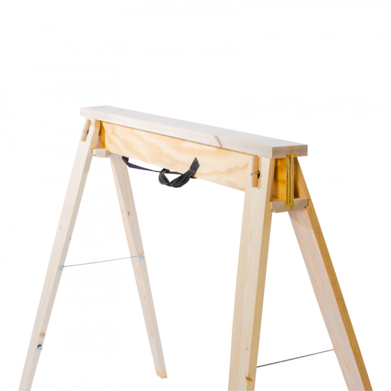 Hide-A-Horse Folding Sawhorses front right angle.