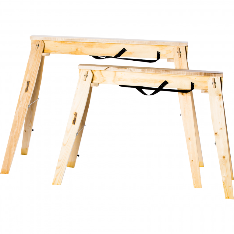 """Choose from our two model sizes, we have our standard Hide-A-Horse 29"""" sawhorses and our Tall 35"""" Hide-A-Horse sawhorses."""