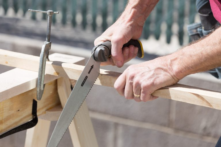 Hide A Horse has a clamp friendly surface to add to being the best folding sawhorse