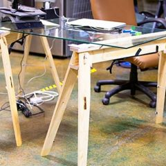 Hide A Horse is the best folding sawhorse used as a desktop shop folding sawhorses